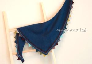 三角フラッグショール 編み物教室 workshop カシミア