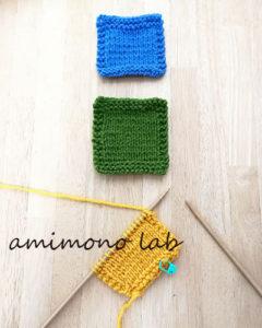 棒針編み初心者さんコースター